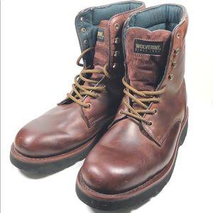Wolverine Plateau Men's 13M brown Leather Boots